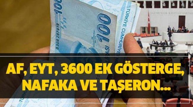 Mahkumlara Af, EYT, 3600 ek gösterge, nafaka ve taşeron işçi açıklaması, son durum nedir? 27 Ocak Meclis gündemi:.