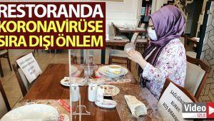 Restoranda korona virüse karşı sıra dışı önlem