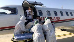 Diyabet ve hidrosefali hastası minik Nihal, ambulans uçakla Türkiye'ye getirildi