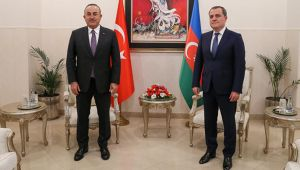 Bakan Çavuşoğlu, Azerbaycanlı mevkidaşı Bayramov'la görüştü