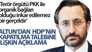 İletişim Başkanı Fahrettin Altun'dan HDP kapatılma talebine yönelik açıklama