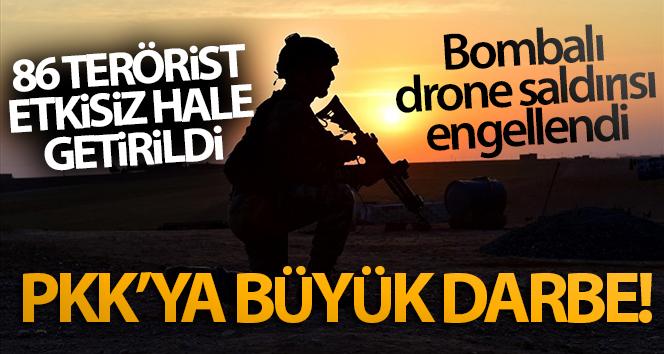 PKK'ya büyük darbe! Bombalı drone saldırısı engellendi
