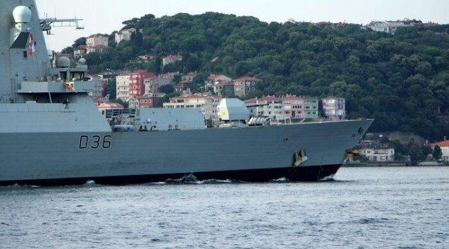 Gerilimin başrolüydü! İngiliz savaş gemisi Karadeniz'den ayrıldı